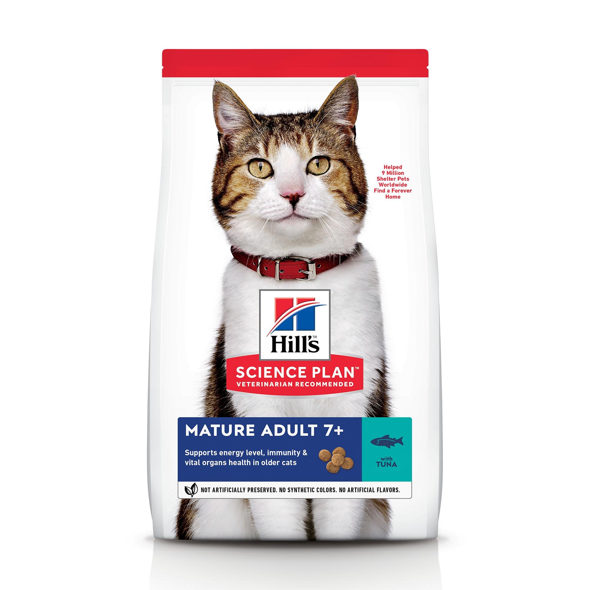 Hill's SP Mature Adult 7 Plus hrana pentru pisici cu ton, 1.5 kg imagine