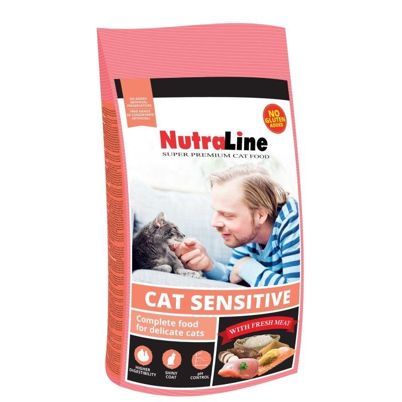 Nutraline Cat Sensitive, 400 G imagine