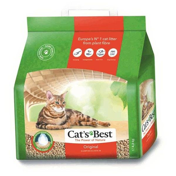 Cat's Best Oko Plus 10 L (4.3kg) - Nisip 100% natural imagine