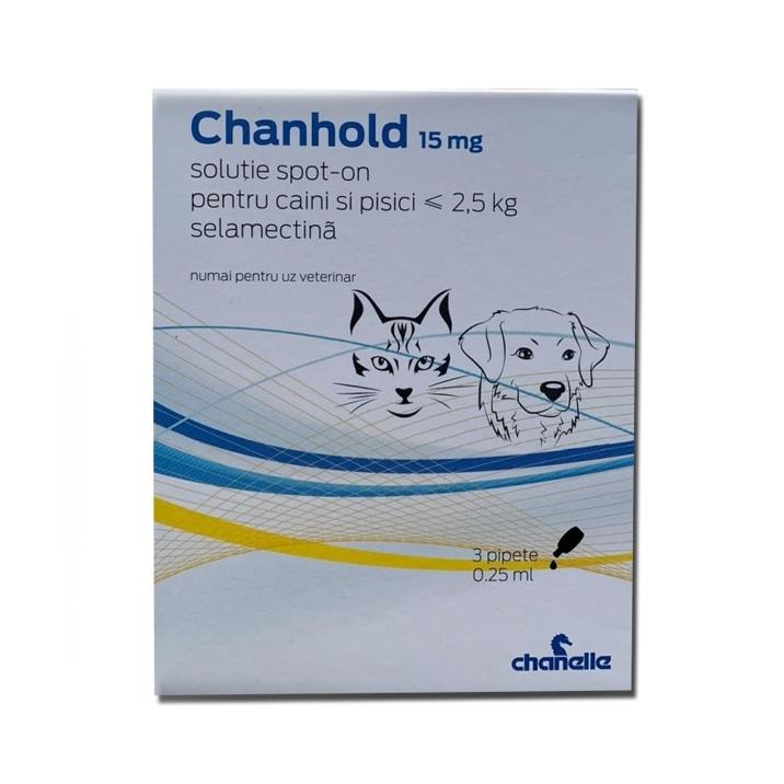 Pipete antiparazitare, Chanhold, 15 mg x 3, ≤ 2.5 kg imagine