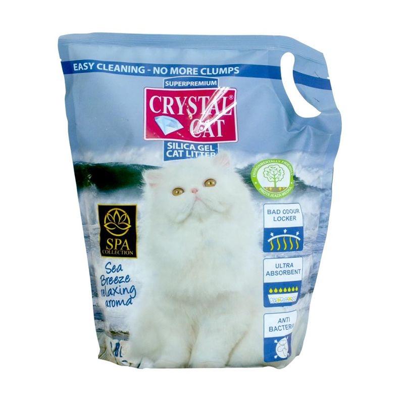 Crystal Cat nisip silicatic Sea Breeze, 3.8 l imagine