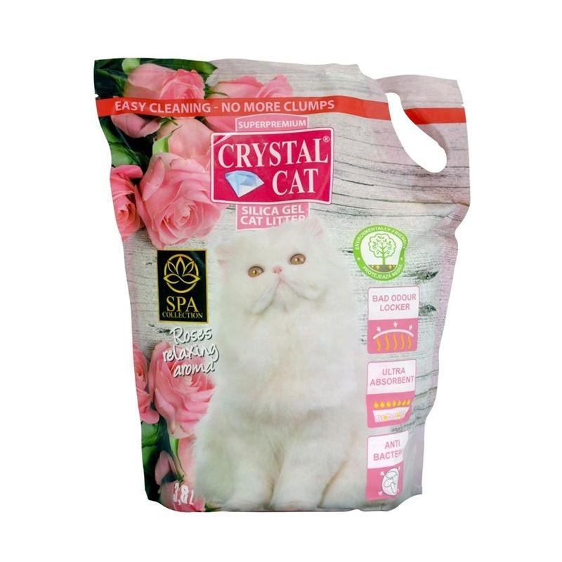 Crystal Cat nisip silicatic Trandafir, 3.8 l imagine