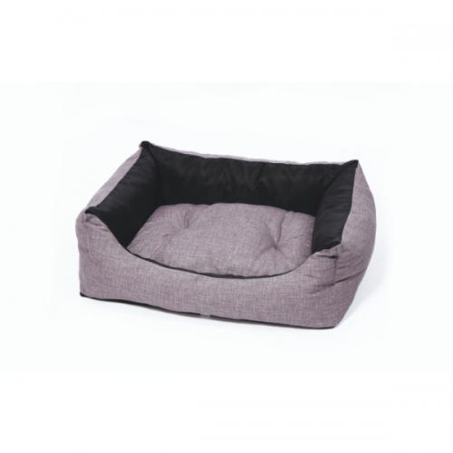 Culcus pentru caini Leopet Rodi 2 Fete Black/ Grey, 70 x 85 cm imagine