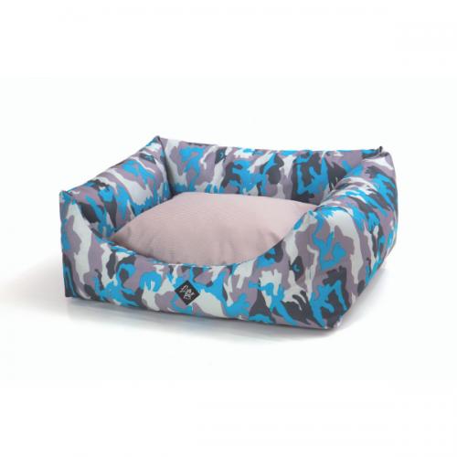 Culcus pentru caini Leopet Rody Army Blue, 60 x 70 cm imagine