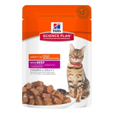 Hill's SP Adult hrana pentru pisici cu vita 85 g (plic)