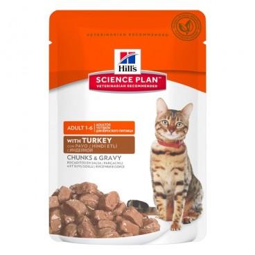 Hill's SP Adult hrana pentru pisici cu curcan 85 g (plic)