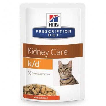 Hill's PD k/d Kidney Care hrana pentru pisici cu pui 85 g (plic)