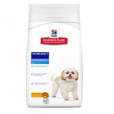 Hill's SP Mature Adult 7 Plus Active Longevity Mini hrana pentru caini cu pui 7.5 kg