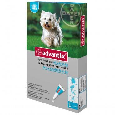 Advantix 100 | Pipeta antiparazitara Advantix caini de 4-10 kg 1 pipeta