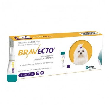 Bravecto spot on (2-4.5 kg) 1 pipeta