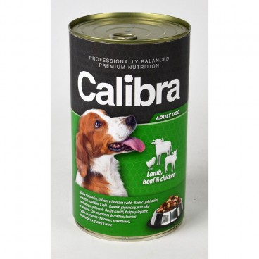 Calibra Dog Conserva Beef & Lamb & Chicken in Jelly 1240 g