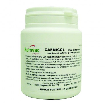 Supliment nutritiv CARNICOL 250 CP