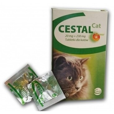 Cestal cat 2 comprimate - antiparazitar intern pentru pisici