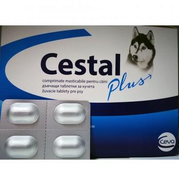 Cestal Plus Dog Flavour 4 tablete - antiparazitar intern pentru caini