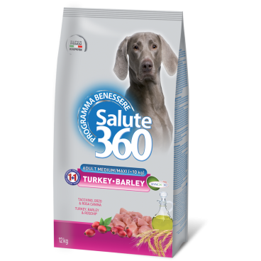 Salute Dog M/L Turkey/Barle 12kg