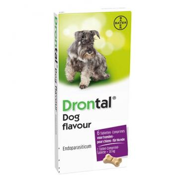 Drontal Flavour 6 tablete - antiparazitar intern pentru caini