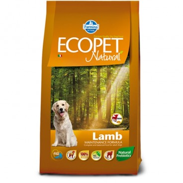 Ecopet Natural Dog Adult Mini Miel si Orez 12 Kg
