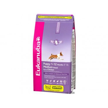 Eukanuba Puppy & Junior Medium cu Pui 15 Kg