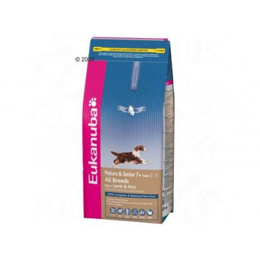 Eukanuba Mature & Senior All Breed  Lamb & Rice 12 Kg