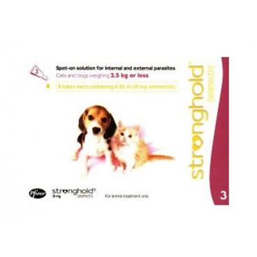 Stronghold Caine / Pisica 15 mg 3 pipete - solutie antiparazitara pentru caini