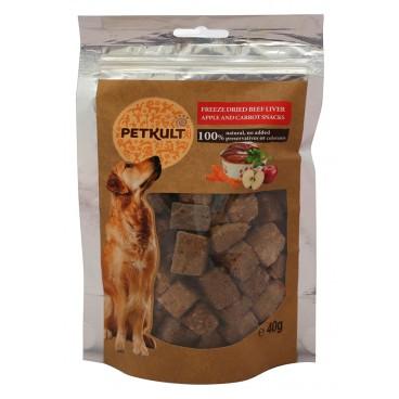 Petkult Dog Snack Ficat Vita/Mar/Morcov 40 gr