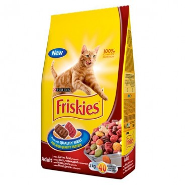 Friskies Pisica CARNE, FICAT, LEGUME 300 g