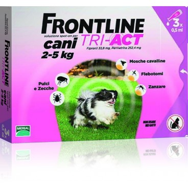 Frontline Tri-Act  2-5 kg 3 pipete