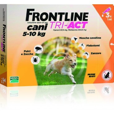 Frontline Tri-Act 5-10 kg 3 pipete