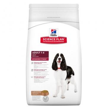 Hill's SP Adult Advanced Fitness hrana pentru caini cu miel si orez 12 kg