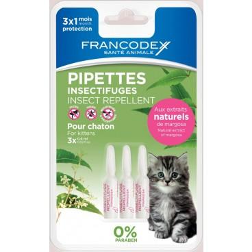 Francodex Pipeta Antiparazitara Kitten 0.6ml x3buc/blister