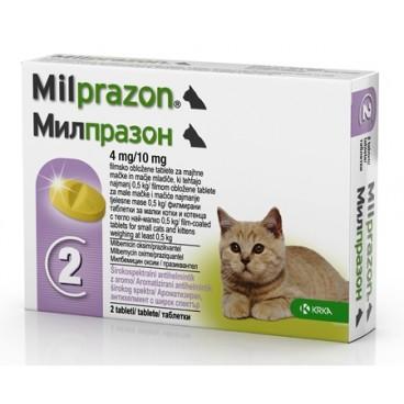 Milprazon Pisica <2 kg 2 tablete
