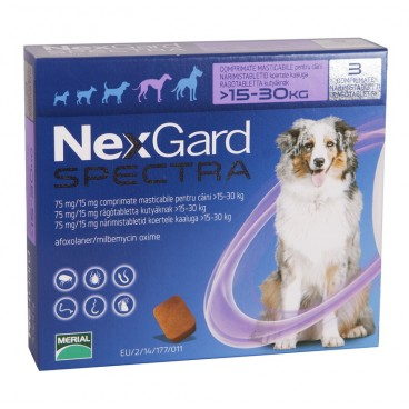 NEXGARD SPECTRA CAINI L de 15-30 kg