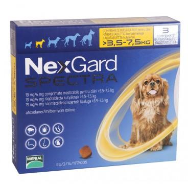 NEXGARD SPECTRA CAINI S de 3.5-7.5 kg