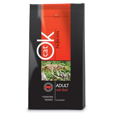 OK Cat Passion Adult Beef 12,5 kg