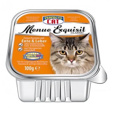 Perfecto Cat Meniu Exquisit Pateu rată & ficat 100 g
