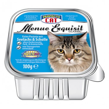 Perfecto Cat Meniu Exquisit Pateu somon & cambulă 100 g