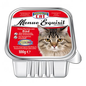 Perfecto Cat Meniu Exquisit Pateu vită 100 g