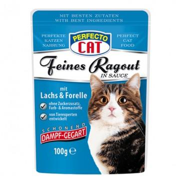Perfecto Cat Tocană cu Somon & Păstrăv plic 100 g