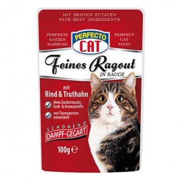 Perfecto Cat Tocană cu Vită & Curcan plic 100 g