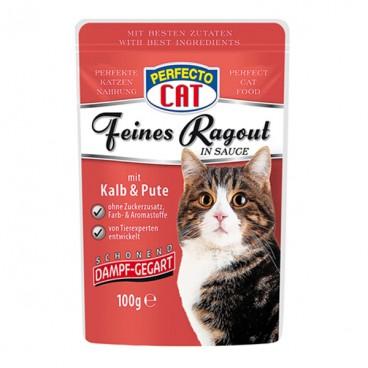 Perfecto Cat Tocană cu Vitel & Curcan plic 100 g