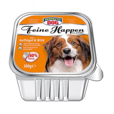 Perfecto Dog Pateu cu pui si vânat 300 g