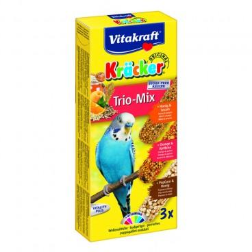 Baton Perusi Vitakraft Trio Mix Miere/Caise/Popcorn 3 Buc