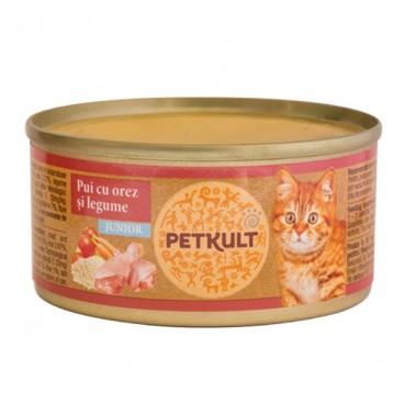 Petkult Cat Kitten cu Pui 80 g