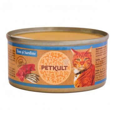 Petkult Cat Ton cu Sardina 80 g