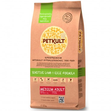 Petkult Medium Adult Sensitive Miel&Orez 12kg