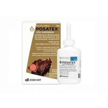 Posatex suspensie otica 15 g - tratarea cainilor de infectii ale urechii (otita externa)