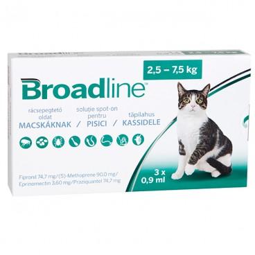 BROADLINE Spot-on Pisici (2,5-7,5 kg) 3pipete