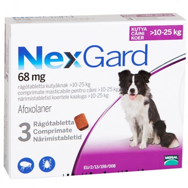 NEXGARD LARGE DOG  - 3 cpr masticabile (10-25 kg)