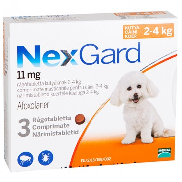 NEXGARD SMALL DOG  - 3 cpr masticabile ( 2-4 kg )