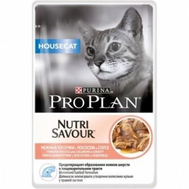 Pro Plan Housecat Nutrisavour Somon in sos 85 g